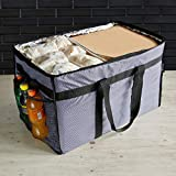 Insulated Food Delivery Bag - Large Thermal Bag for Food Transport, Commercial Catering or Grocery Shopping - Heavy Duty Carrier for Cold and Hot Food with Divider & Padded Handles - 23 x 15 x 14