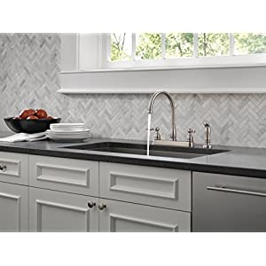 Delta Faucet Windemere 2 Handle Kitchen Sink Faucet With