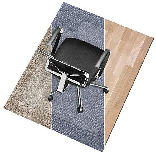 Lip Chair Mat for High Pile Carpet Floors by Office Marshal