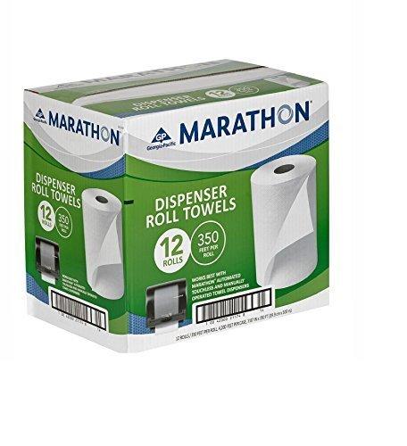 Marathon Dispenser Roll Towels 12 Rolls for Marathon Commercial Kitchen Bathroom Towel Dispensers Bulk Case 4,200 ft. ()