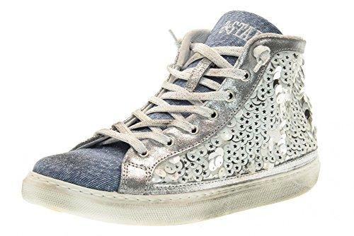 stjernet 2 1485 Hvid Sneakers 2sd Høj Kvinder Hvid qaBdaZ