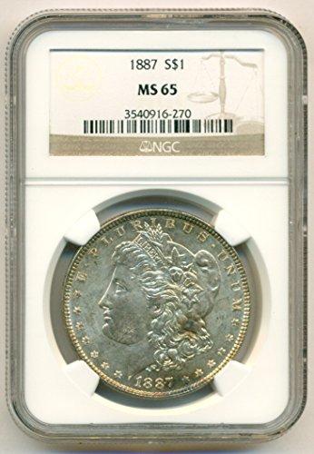 1887 Morgan Silver Dollar MS65 NGC