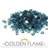 Golden Flame Glass 10-Pound Fire Glass 1/2-Inch Pacific BlueReflective