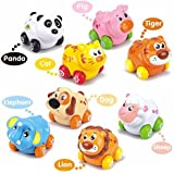 Toyshine My First Animals On wheels (Set of 8 Pieces) Baby Birthday Gift for 1 to 3 Year Old Child