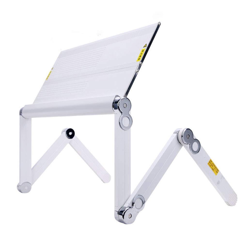 White 52CM ZXW Folding Table Detachable Laptop Desk, Home Multi-Function Foldable Desk Computer Desk (color   Black, Size   52CM)