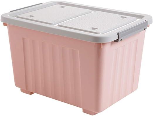 AYYA - Caja de Almacenamiento Cubierta de plástico Grande para el hogar, Caja de Juguetes, Caja de Almacenamiento de Ropa (Rosa), Small: Amazon.es: Hogar