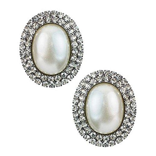 Vintage Charm Halloween Pearl And Rhinestone Earrings
