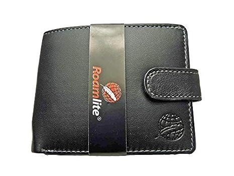 Premium AUTÉNTICO Cartera De Cuero para Hombre Monedero 6 Tarjetas De Crédito Roamlite RL507