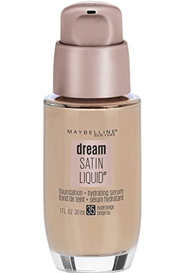 07dad6a6ebb Amazon.com : Maybelline New York Dream Satin Liquid Foundation (Dream  Liquid Mousse Foundation), Nude Beige, 1 fl. oz. : Foundation Makeup :  Beauty