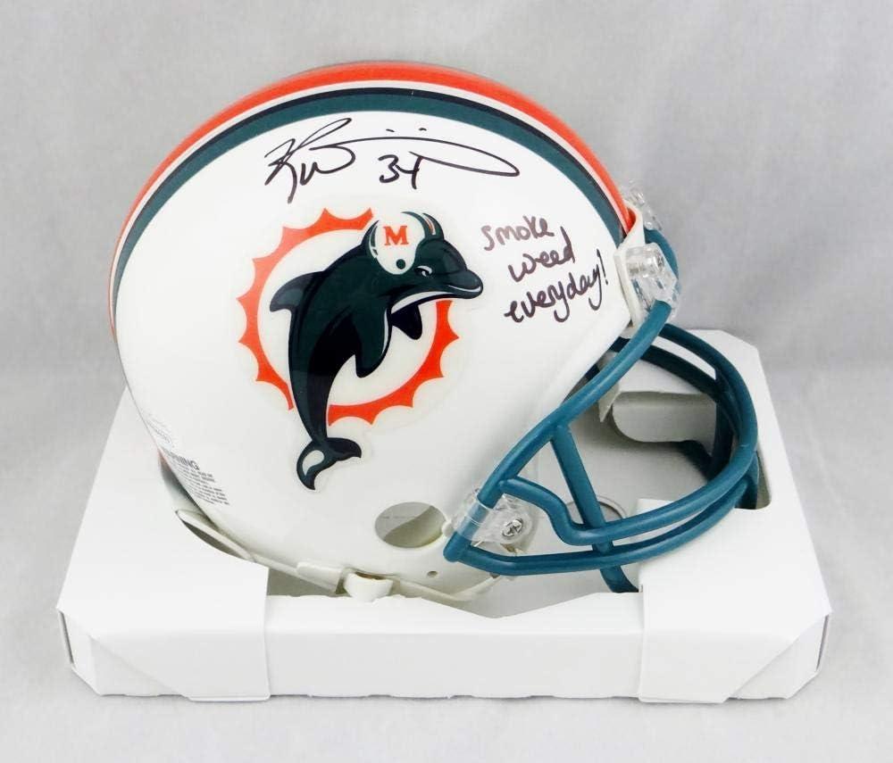 Ricky Williams Autographed Miami Dolphins 97-12 TB Mini Helmet w//SWED JSA W Auth Black