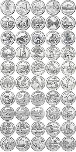 2010 D - 2019 BU D National Parks Quarters - 50 coin Set Uncirculated