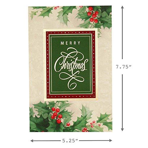 Hallmark Christmas Boxed Cards (Holiday Holly, 40 Christmas Greeting Cards and 40 Envelopes) Photo #5