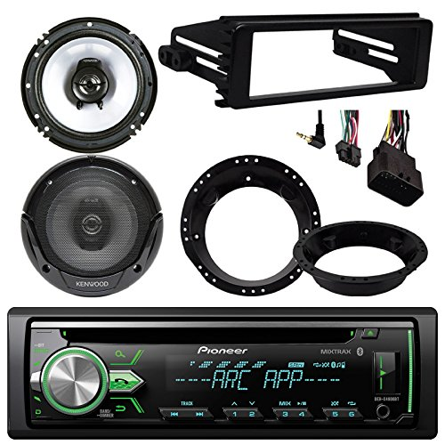 Pioneer DEH-X4900BT Bluetooth CD Stereo Audio Receiver - Bundle Combo With 2x Kenwood 6.5