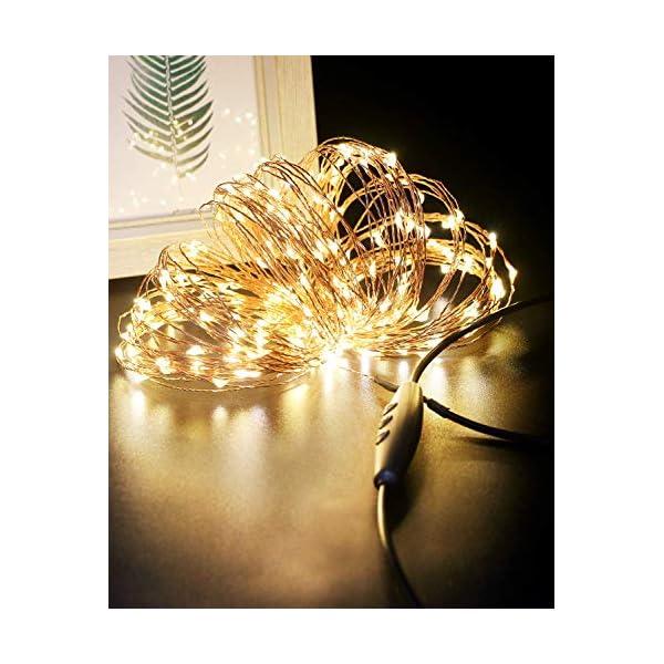 Stringa Luci LED USB, Litogo 24M 240 LED Dimmerabile Catena Luminosa Filo Rame Ghirlanda Luminosa Impermeabile Lucine LED Decorative per Camere Natale Interni e Esterni, Casa, Feste, Matrimonio, DIY 1 spesavip