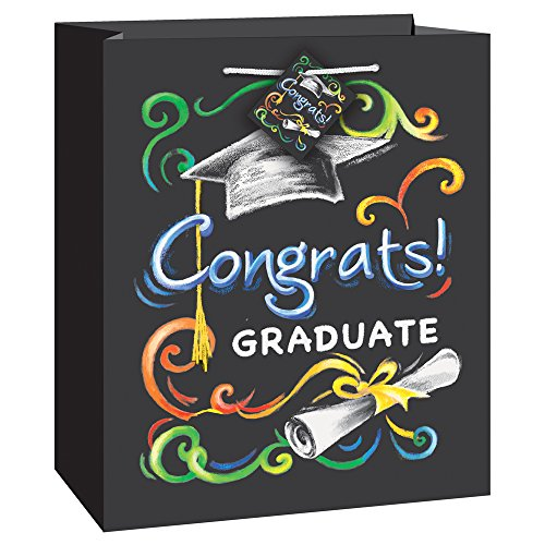 Medium Chalkboard Graduation Gift Bag