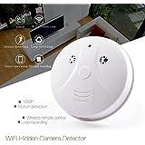 WiFi Spy Hidden Camera Smoke Detector HD 1080P Wireless Security Hidden Cam Motion Activated Recording Nanny Cam P2P Network Video Camera