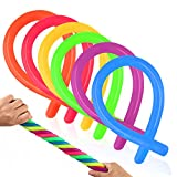 Coogam 6 Pack Stretchy String Sensory Toys - Relieve Stress Increase Patience, Pull - Good kids ADD, ADHD Autism Adults to Strengthen Arms, 11' Length, 6 Colors