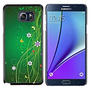 Stuss Case / Funda Carcasa protectora - Florales flores de la primavera de la mariposa - Samsung Galaxy Note 5 5th N9200