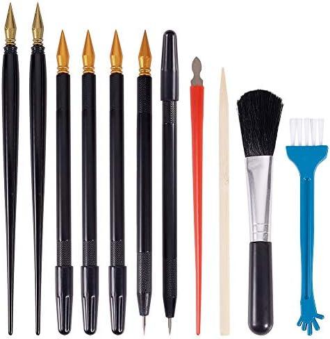 PandaHall 22 stks Scratch Schilderen Gereedschap Dual Scratch Kleurpennen Bamboe Sticks Kleine Schraper Schone Borstels voor Scratch Papier Art Paint DIY