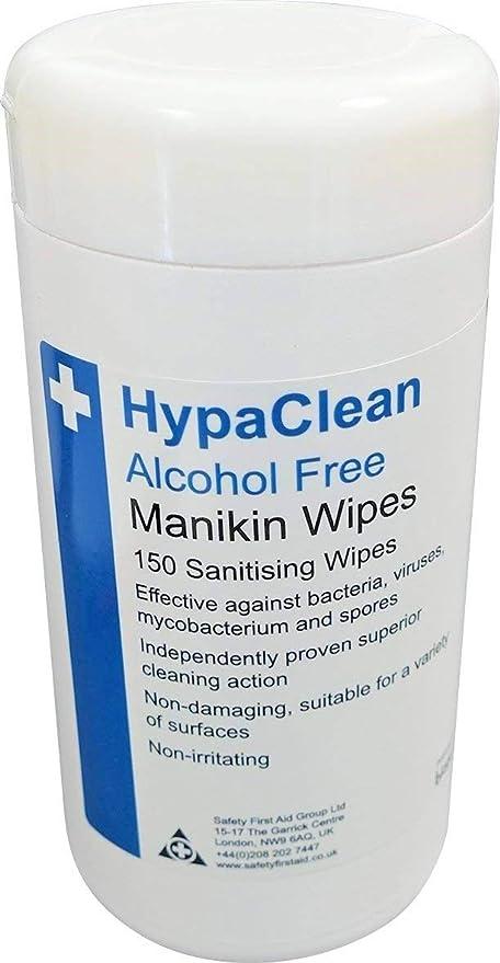 Safety First Aid grupo hypaclean Alcohol libre formación maniquí toallitas, 150 unidades)