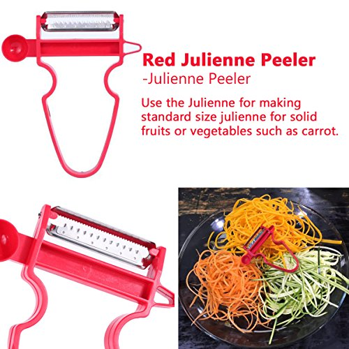 Magic Trio Peelers Set of 3 New Fruit & Vegetable Kitchen Starter Kit for Mom by Great Home by Great Home (Image #3)