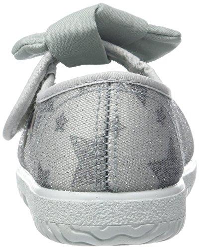 Para Estrellas Unisex Lurex Gris Niños Mercedes Zapatillas Victoria vqwT8fW