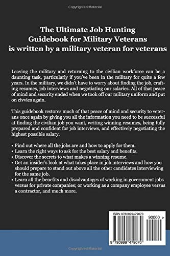 the ultimate job hunting guidebook for military veterans a