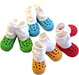 Baberoo Organic Cotton Socks for 0-12 Months - Clogs
