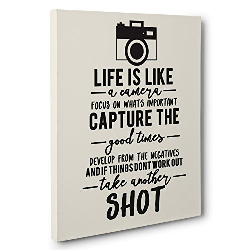 Life Is Like A Camera Quote Canvas Wall Art