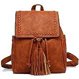 Kenox Vintage PU Leather Women Small Backpack Purse Fashion Mini Travel Bag