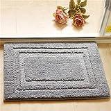 Eanpet Soft Bath Rug for Bathroom Microfiber Spa Bathroom Accent Mat 20x32 inches Non-Skid Pure Cotton Area Rug Extra Plush Absorbent Bathmat for Bath Tub Shower - Grey