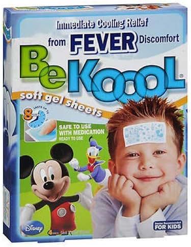 Be Koool Be Koool Soft Gel Sheets for Kids, 4 Each (Pack of 2)