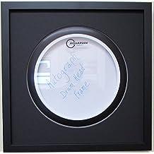 """14"""" Drum Head Display Frame Set Black frame Black matting Easy Mount (Black)"""