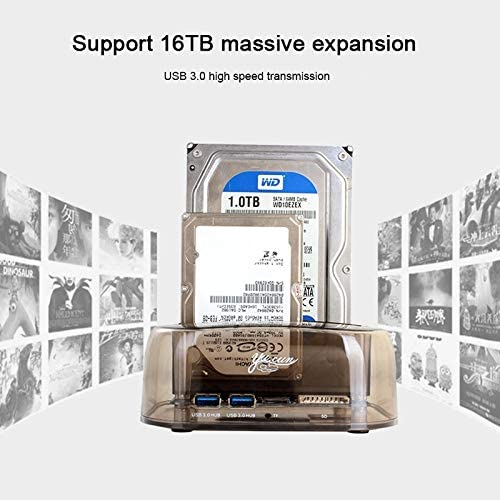Easy to Carry. The Maximum Support Capacity: 16TB,Stylish and Compact 2.5//3.5 inch USB3.0 Dual SATA HDD Enclosure with HUB /& OTB Function Lekai Multifunctional Meet Different Needs