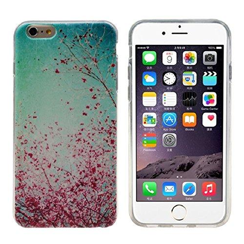 Sannysis Für iPhone 6 4.7 Inch Fall;Pflaume-Blumen-Gummi-weiche TPU Silikonhülle