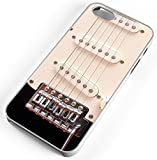 iPhone Case Fits iPhone 8 Electric Guitar Strings Pick Ups Music Loud Amp Energy White Rubber