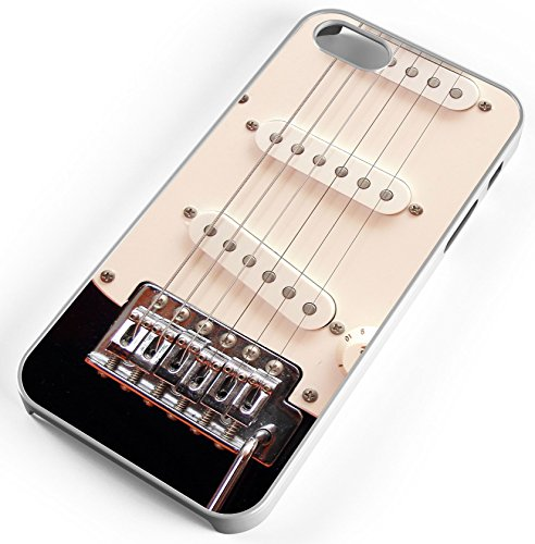 iPhone Case Fits iPhone 8 Electric Guitar Strings Pick Ups Music Loud Amp Energy White Rubber by TYD Designs