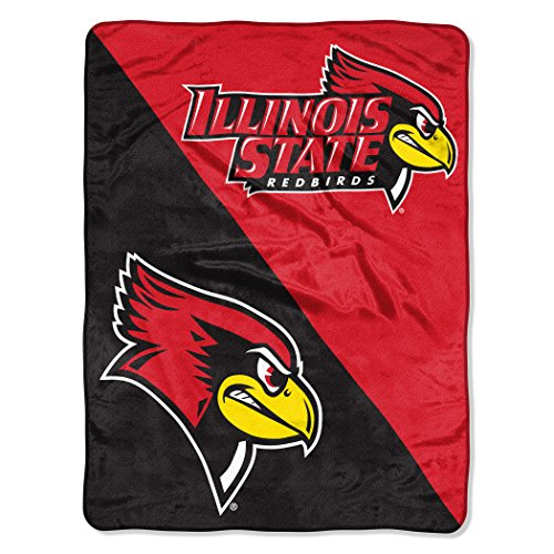 The Northwest Company Officially Licensed NCAA Illinois State University Halftone Micro Raschel Throw Blanket, 46