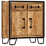 vidaXL Solid Mango Wood Sideboard Lowboard TV HiFi Cabinet Console Table Stand