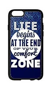 """RainbowSky iPhone 6 Plus (5.5"""" Inch) Case - Life Begins At The End Of Your Comfort Zone Hard Plastic Back Protection Phone Case Cover -2072"""