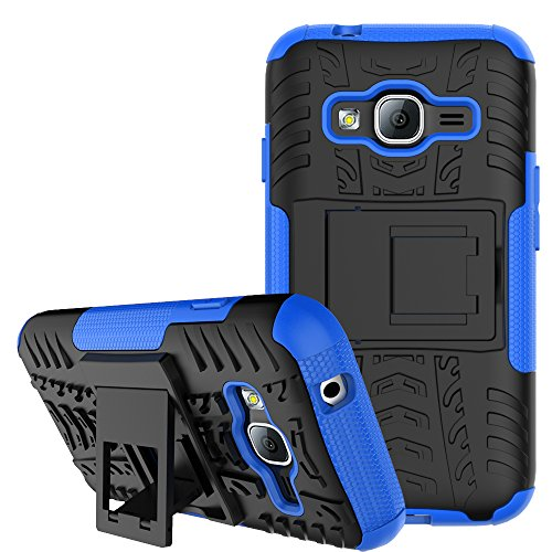 Samsung Galaxy J1 Mini Prime Case Remex Military Tires Leather And Kickstand with Shockproof and Anti-Scratch and Non-Slip Case For Samsung Galaxy J1 Mini Prime (Blue)