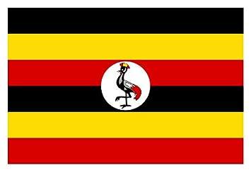 uganda national flag 5ft x 3ft amazon co uk garden outdoors
