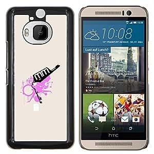 Jordan Colourful Shop - Pink Abstract For HTC One M9+ / M9 PLUS Personalizado negro cubierta de la caja de pl????stico