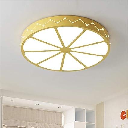 MTX Ltd Lámpara de Techo Creative Led Yellow Beauty Pomelo ...
