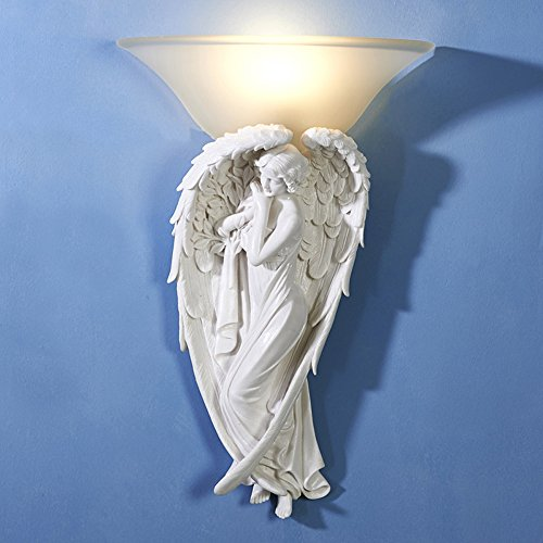Pumpink European Blessing Angel Lantern Maria Wall Light Church Wall Sconce Creative Resin Sculpture Venus Bracket Light Ancient Greek Love God Vintage Last Century Wall Lamp Living Room ()