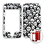 Apple iPhone 4 - 4S (AT&T/Verizon/Sprint) Transparent Design, Cute Multi Mini Skulls iPhone 4 Hard Case/Cover/Faceplate/Snap On/Housing/Protector