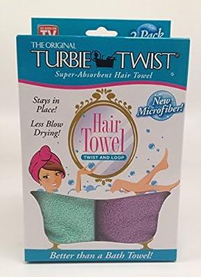 Turbie Twist Microfiber Hair Towel (2 Pack)
