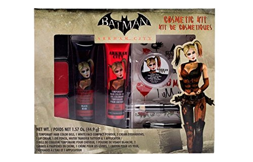 BATMAN Arkham City Harley Quinn Costume Makeup Cosmetic Kit - Costume City