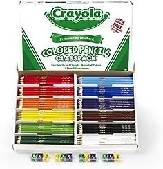 Crayola 240 Coloured Pencils Classpack, 12 Colors