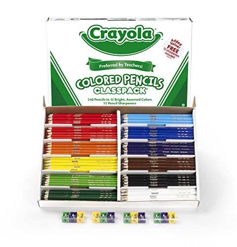 크래욜라 Crayola 240 Ct Colored Pencil Classpack, 12 Assorted Colors (68-8024)